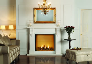 The Gazco Riva 2 800 with Victorian Corbel mantel offers real presence