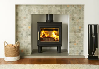 The popular and highly efficient 5KW Bergen stove by Nordpeis