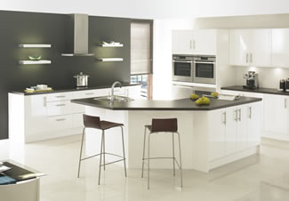 Boston white gloss furniture gives a striking quality