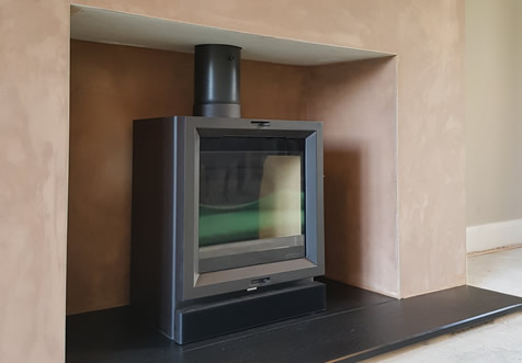 Stovax Vision 5KW with riven slate hearth